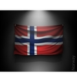 waving flag norway on a dark wall vector image