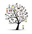 yoga practice tree vector image vector image