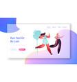 young healthy women running marathon distance vector image vector image