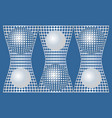 abstract blue background with silver metallic grid vector image