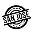 san jose rubber stamp vector image