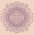 abstract mandala ornament on pink background vector image
