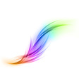 abstract smoke on white rainbow vector image vector image
