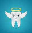 Angelic tooth with wings and a halo vector image