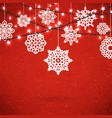 background for merry christmas poster with paper vector image vector image
