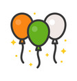 balloons feast of saint patrick filled icon vector image