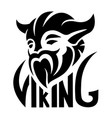 black simple logo with viking vector image vector image