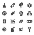 black toys icons set vector image vector image