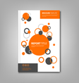 Brochures book or flyer with abstract orange vector image