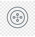 button concept linear icon isolated on vector image