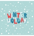 Card with an inscription Winter Holiday on a vector image vector image