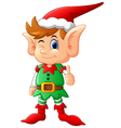 cartoon elf giving thumb up vector image