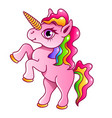 cartoon unicorn isolated vector image