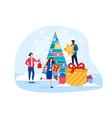 christmas decorations concept with a group vector image