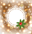 christmas greeting card with mistletoe vector image vector image