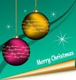 christmas sheet vector image vector image