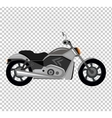 Cool Motorcycle Isolated on White Background vector image vector image