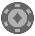 diamonds suit silver casino chip vector image