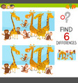 differences game for children vector image vector image