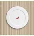 Dinner plate on bamboo napkin vector image