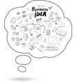 Doodle speech bubble icon with business idea vector image vector image
