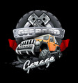 extreme orange off road vehicle suv vector image vector image