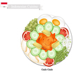 Gado Gado or Indonesian Vegetable Salad vector image vector image