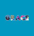 grace concept word art vector image vector image