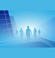 group of business people silhouette businesspeople vector image vector image
