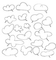Hand drawing set of cloud for adding text or vector image vector image