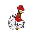 happy chicken cartoon vector image vector image
