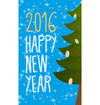 Happy new year 2016 Christmas greeting card vector image