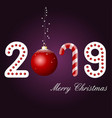happy new year 2019 text design pattern vector image vector image