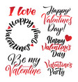 happy valentines day lettering background greeting vector image vector image