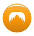 head hair icon orange vector image