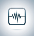 Heart and health icon vector image