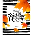 Hello Autumn The trend calligraphy Background vector image vector image
