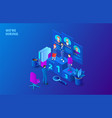 hiring and recruitment design concept vector image