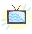 icon retro tv vector image