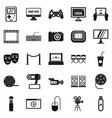 interesting show icons set simple style vector image vector image