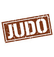 Judo square grunge stamp vector image