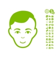 Man Face Icon With Free Bonus vector image vector image