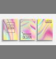 minimal covers design fluid iridescent vector image vector image