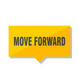 move forward price tag vector image vector image