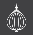 onion line icon vegetable and diet vector image