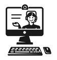 Online webinar icon simple style
