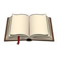 open book pop art vector image vector image