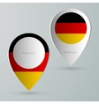 paper of map marker for maps germany vector image vector image