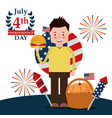 people american independence day vector image vector image