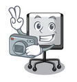 photographer presentation board cartoon on the vector image